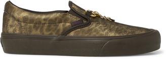 Vans + Needles Classic Vlt Lx Animal-Print Faux Leather Slip-On Sneakers