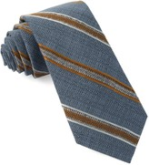The Tie Bar Steel Blue Hutton Stripe Tie