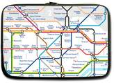 London Tube Map water resistant Neoprene Laptop Sleeve 13 inch (Twin Sides)