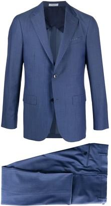 Boglioli B-line herringbone suit
