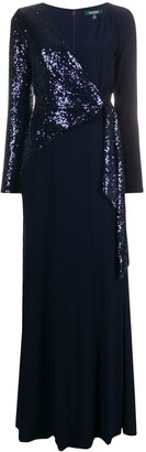 Lauren Ralph Lauren Sawyer sequin wrap dress