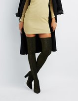 Charlotte Russe Bamboo Glitter Over-The-Knee Boots