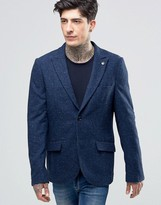 Scotch & Soda Blazer With Fleck In Wool Navy