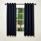 "Best Home Fashion Thermal Insulated Blackout Curtains - Antique Bronze Grommet Top - Navy - 52""W x 63""L - No tie backs (Set of 2 Panels)"