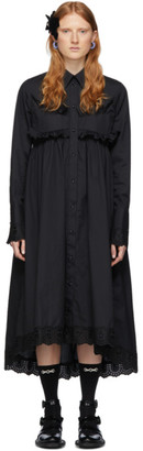 Simone Rocha Black Frock Shirt Dress