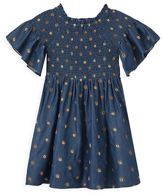 Habitual Little Girl's Smocked Floral Dress