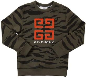 Givenchy Camo Print Cotton Sweatshirt