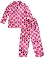Dollie & Me Pink & White Sheep Button-Up Pajama Set - Women