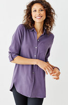 J. Jill Silk Forward-Seam Shirt