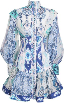 Zimmermann Glassy Long Sleeve Mini Dress