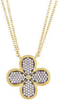 Freida Rothman 14K Gold Plated Sterling Silver CZ Pave Clover Pendant Necklace