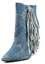 Luichiny Going Fast Pointed Toe Denim Bootie.
