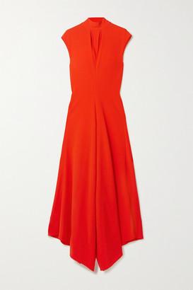Proenza Schouler Asymmetric Crepe Maxi Dress - Red