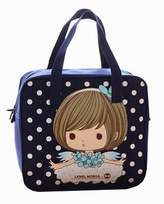 Black Temptation [Cute Dream Girl] Kids Lunch Tote Bag Reusable Lunch Bag Picnic Bag