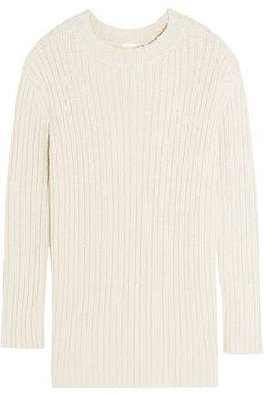 ADAM by Adam Lippes Ribbed Silk And Linen-Blend Sweater