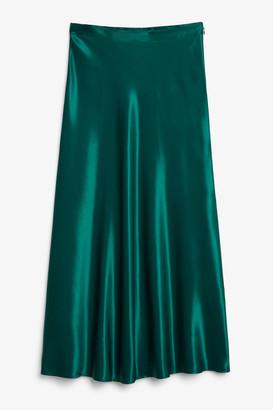 Monki Long satin skirt