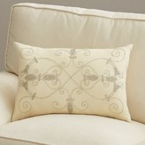 """Pense'e Pensee Throw Pillow Lark Manor Color: Ivory, Size: 20"""" x 20"""", Fill Material: Down"""
