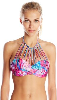 Luli Fama Women's Amanecer Multi Strings Underwire Push Up Bikini Top Small