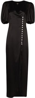 De La Vali Ohio puff sleeve dress