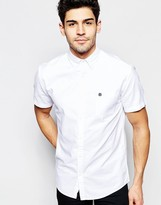 Selected Short Sleeve Oxford Shirt In Regular Fit