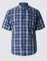 Marks and Spencer Ombre Checked Soft Touch Shirt with Modal