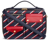 Mulberry 'Cherwell Square' stripe leather bag