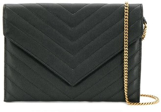 Saint Laurent Envelope-Style Quilted Shoulder Bag