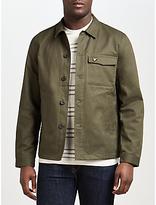 Lyle & Scott Shirt Jacket, Dark Sage