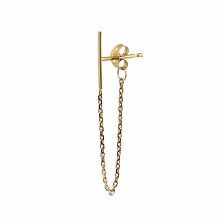 Irena Chmura Jewellery Line & Chain Earring Single