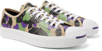 Converse Jack Purcell Ox Camouflage-Print Leather Sneakers