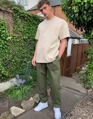 Weekday Noah cargo trousers in green