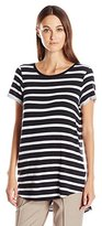 GUESS Women's Short Sleeve Rolled Tina Tunic Tee
