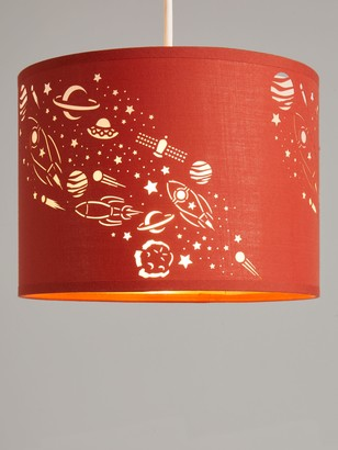little home at John Lewis Outer Space Lampshade, Orange