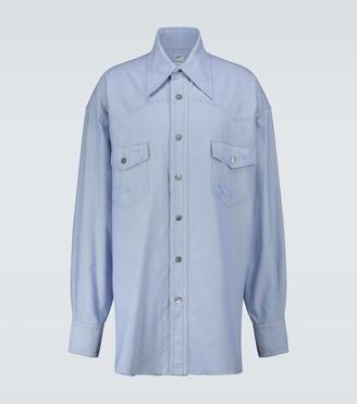Marni Distressed oversized Western shirt