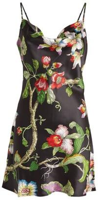 Olivia von Halle Minnie Silk Floral Mini Dress