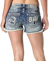 Miss Me Women's Fray and Stud Denim Short