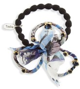 Tasha Crystal Bow Ponytail Holder