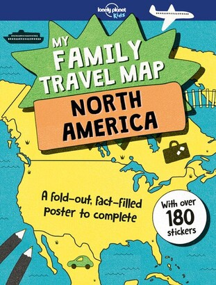 Lonely Planet Lonely Planet Lonely Planet My Family Travel Map - North America 1st Ed.