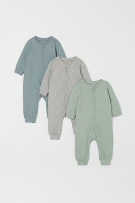 H&M 3-Pack Cotton Pyjamas
