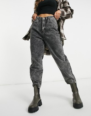 I SAW IT FIRST balloon slouchy fit jeans in washed black