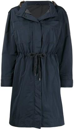 Brunello Cucinelli embellished pocket raincoat