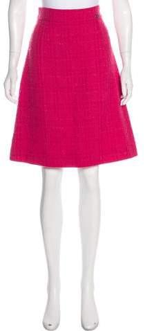 Chanel Wool Bouclé Skirt
