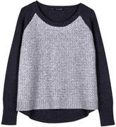 Arrow-Knit Slouchy Pullover