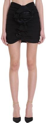 Magda Butrym Luxor Skirt In Black Synthetic Fibers