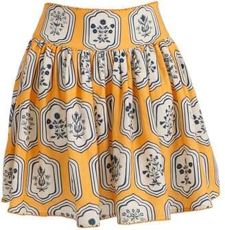 Agua Bendita Agua By Tropic High Waisted Printed Mini Skirt