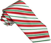 Asstd National Brand Hallmark Candy Cane Striped Lurex Tie - Extra Long