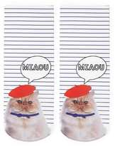 Forever 21 FOREVER 21+ Miaou Cat Graphic Ankle Socks