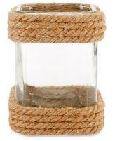 Home Essentials Rope-Trim Glass Lantern