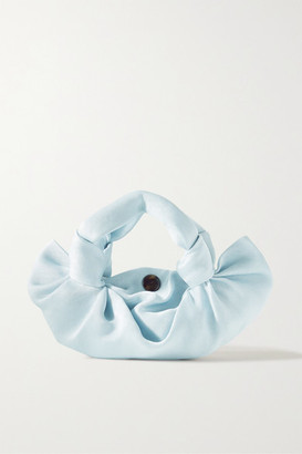 The Row Ascot Satin Tote - Sky blue