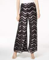 MSK Metallic Chevron-Print Pants
